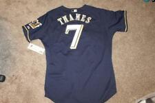 Milwaukee Brewers Eric Thames Majestic AUTHENTIC MLB JERSEY 48 new w/tags NAVY