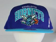 Vtg Rare s NBA Charlotte Hornets Mitchell & Ness Snapback DS Cap Hat NWOT