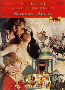 Solomon and Sheba Original Film Brochure Gina Lollobrigida Yul Brynner 20 pages