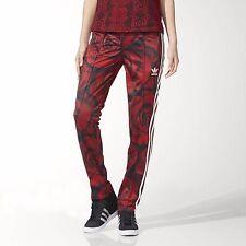 Adidas Originals Red Clash Rose AOP Track Pants - Red/Black - US Med/UK 14