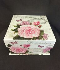 New Decorative Keepsake Box Flowers PAULA SCALETTA Design     BP