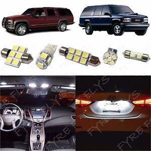 16x White LED lights interior package kit for 1995-1999 Chevy/GMC Suburban CS2W