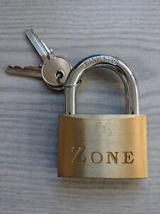 Zone 60mm Brass Padlock