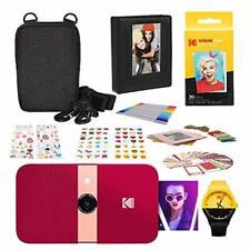 KODAK Smile Instant Print Digital Camera (Red) Photography Scrapbook Kit