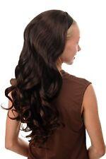Halbperücke Haarteil mit Haarreif lang wellig voluminös Mahagoni Braun Rotbraun