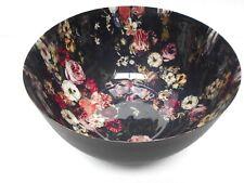 Iron Decorative Bowl (Black Matt W/Inner Enamel Printing)