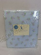Pottery Barn Kids Charlotte Crib Bed Nursery Baby Fitted Sheets Blue Floral