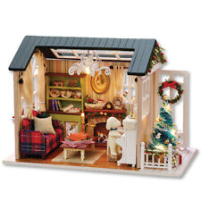 DIY Christmas Miniature Dollhouse Kit Realistic Mini 3D Wooden House Craft Hot