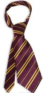 Harry Potter Tie Gryffindor Hogwarts House School World Book Day Purple & Gold