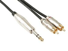 CABLE CORDON PROFESSIONNEL AUDIO, 2 x RCA MALE VERS JACK STEREO 6.35mm (6m)