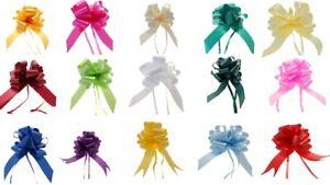 Pull Bows 50/30 mm Ribbon Flower Wedding Gift Wrap Birthday Hampers Decoration