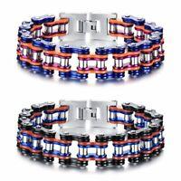 Chunky Heavy Stainless Steel Motorcycle Biker Chain Bracelet Wristband For Men