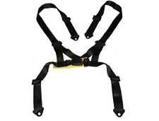 1 SET BLACK 4 POINT NYLON SEAT BELT SAFETY HARNESS 4PT FOR RACING SEAT
