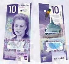 CANADA $10 2018 COMMEMORATIVE *NEW* POLYMER - UNC VIOLA DESMOND - BANK NOTE BILL