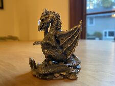 The Ice Dragon - Myth and Magic 3071 Pewter Figurine Holding Faceted Crystal Orb