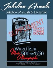 NEW! Wurlitzer 1500, 1550, 1500-A, 1550-A Super Rare Important Supplement Manual