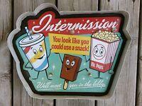 Movie Theater LED Metal Sign Intermission Vintage Home Theatre Decor Cinema New