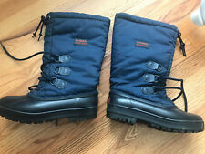 SOREL Tall Insulated Ski Snow Winter Boots Navy Blue Womens 8