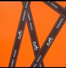 "HERMÈS Classic Iconic Grossgrain Logo Ribbon 36"" Inches Or 1 Yard"