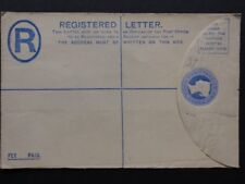Queen Victoria 2d REGISTERED ENVELOPE Embossed Blue Pre Paid Postage