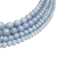 """Angelite  Round Beads 15.5"""""""