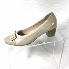 Spring Step Faith Woman's Pumps Beige Bow Size 37 US 6.5-7