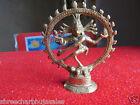 Vintage Solid Brass Hindu Tribal Dancing God Shiva Natraj Statue Figurine  03