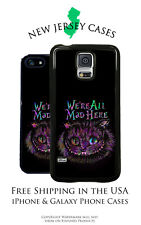 Cheshire Cat We're All Mad Here Apple, Samsung, LG, Google Pixel Phone Case