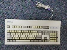 Vintage Dell PS/2 Beige AT101W Mechanical Clicky Keyboard GYUM90SK- Tested