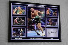 "Tyson Fury v Wilder 2 Las Vegas A3 Framed Canvas Print Signed ""Great Gift"" COA"