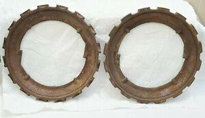 2 Cast Iron John Deere Planter Seed Plates H697-B Corn Beans - Steampunk Clock ?