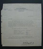 s2070) USA Byrd Transatlantic Flight 1919 Brief mit Unterschrift to Roosevelt