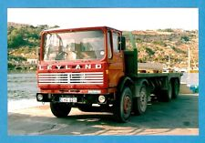 Malta Transport Photo ~ Leyland Octopus EHQ 025 with Flatbed Trailer - 1990s