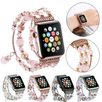 40/44 Bling Agate Beads Strap for Apple Watch Band iWatch Series SE 6 5 4 3 2 1