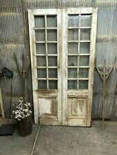 French Glass Pane Doors, Antique French Double Doors, Sliding Barn Doors E6