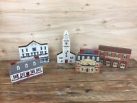 Lot of 5 Cats Meow Christmas Village New England Colonial Virginia Church