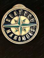 Vintage Collectible Seattle Mariners Colorful Metal Pinback Lapel Pin Hat Pin