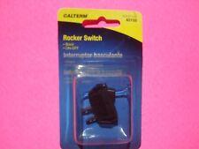 CALTERM ILLUMINATED BLACK TOGGLE ROCKER SWITCH 20A 12V ON OFF 1/1/8 7/16 HOLE