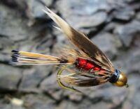 Gilchrist Fliegen. 3 x Goldkopfnymphen HARDY'S FAVOURITE. Auswahl von Größe