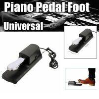 Sustain Switch Pedal Foot Damper Electronic Piano Keyboard For Yamaha Casio