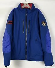 Napapijri Geographic Mens Taped Seams Norwegian Flag Blue Jacket SZ XXL