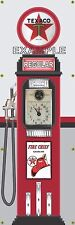 TEXACO STATION OLD TOKHEIM VINTAGE CLOCKFACE GAS PUMP BANNER SIGN MURAL ART 2X6