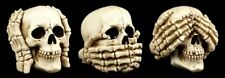 Calavera Juego de 3 - Nada Malo VER Oír Hablar - Figura Cráneo Gótico