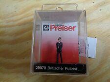 H0 Preiser 29070 britannique policier. figure. emballage d'origine