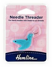 Hummingbird Needle Threader With Cutting Blade Hand Sewing Hemline