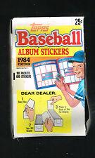 1984 Topps Baseball Album Sticker Pack Box factory issued Mint