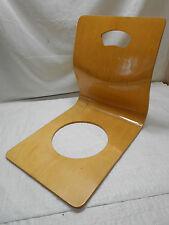 Vintage Zaisu Bent Wood Plywood Legless Floor Chair PAIR Japanese