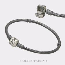 Authentic Pandora Silver Oxidized Bracelet Lock 9.1 590702OX-23
