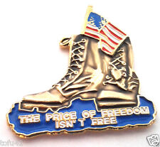 THE PRICE OF FREEDOM ISN'T FREE  Military Veteran Hat Pin 14324 HO