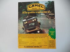 advertising Pubblicità 1984 CAMEL TROPHY '85
